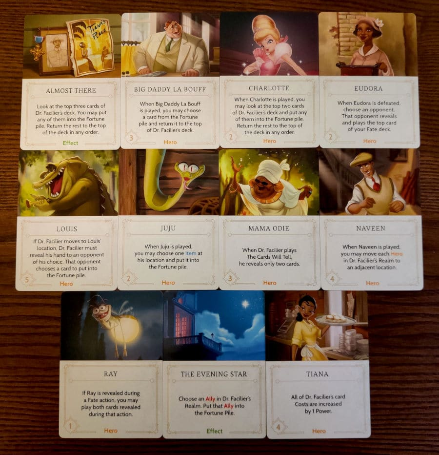 All Dr Facilier's Fate cards