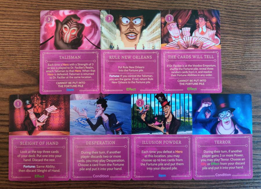 Dr Facilier important villain cards