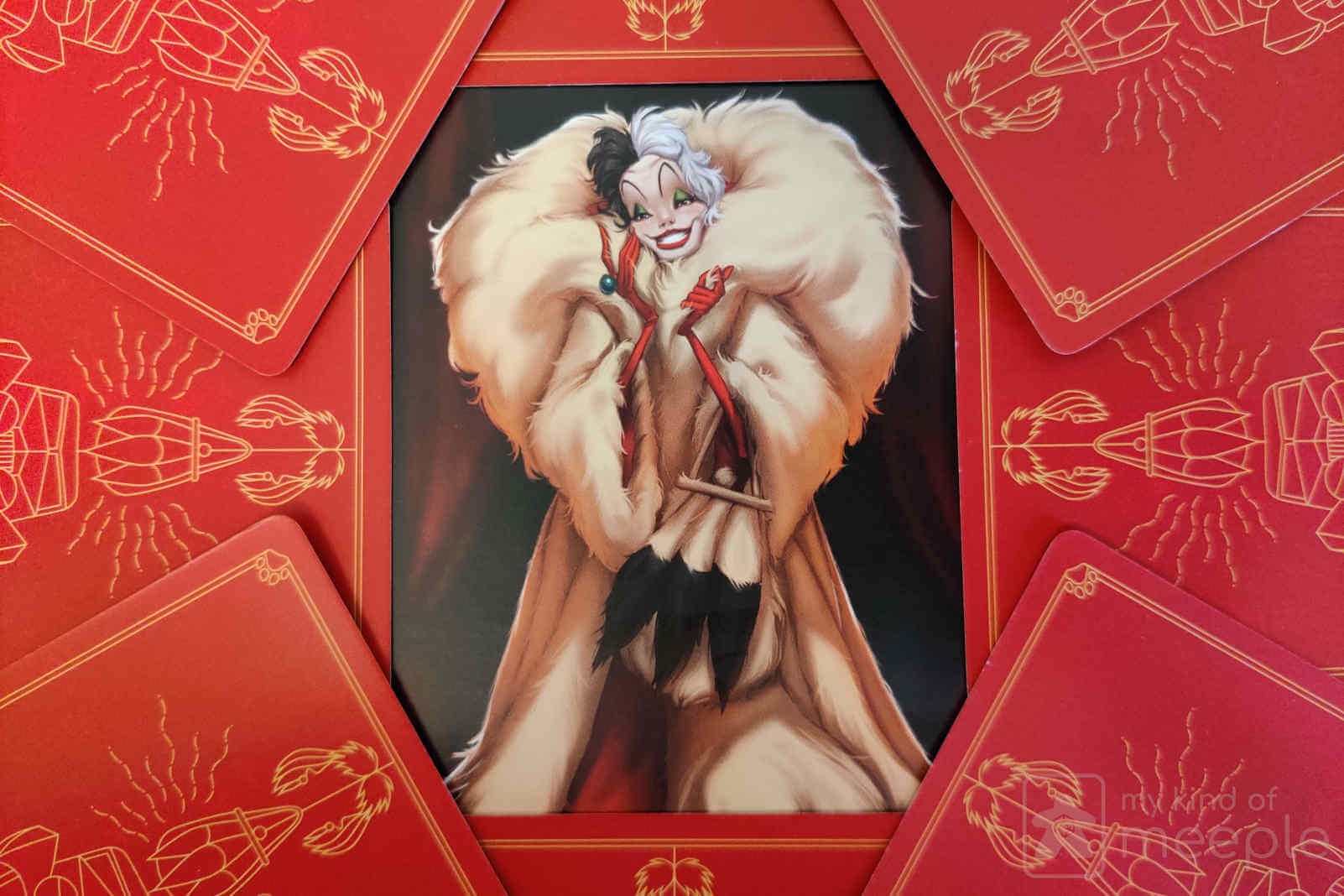 Cruella de vil Disney Villainous and her cards