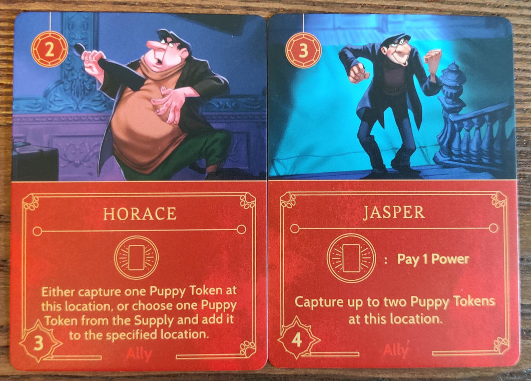 Cruella De Vil Ally cards in Disney Villainous