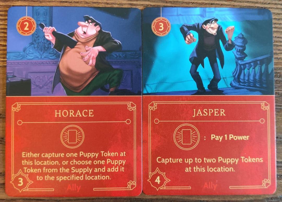 Cruella De Vil's Ally cards in Disney Villainous