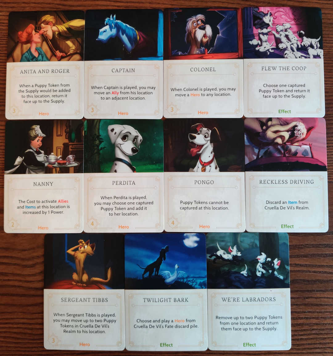 Cruella de vil fate deck cards disney villainous