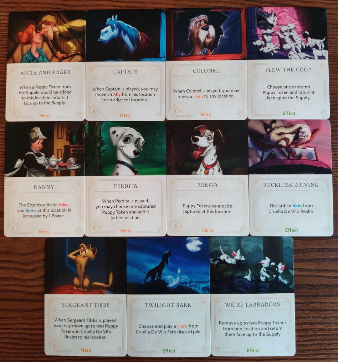 Cruella De Vil's Fate deck cards