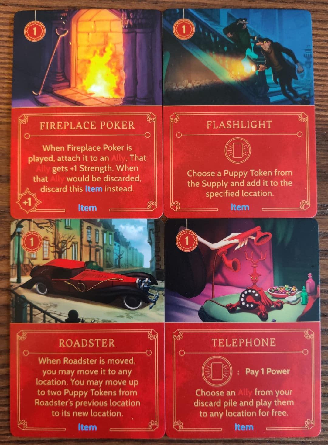Cruella De Vil's Item cards in Disney Villainous