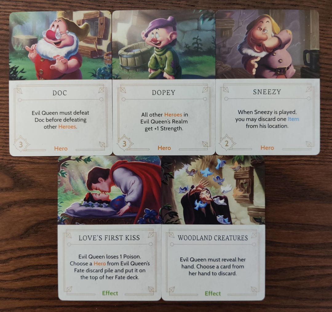 Disney Villainous annoying Fate cards for Evil Queen