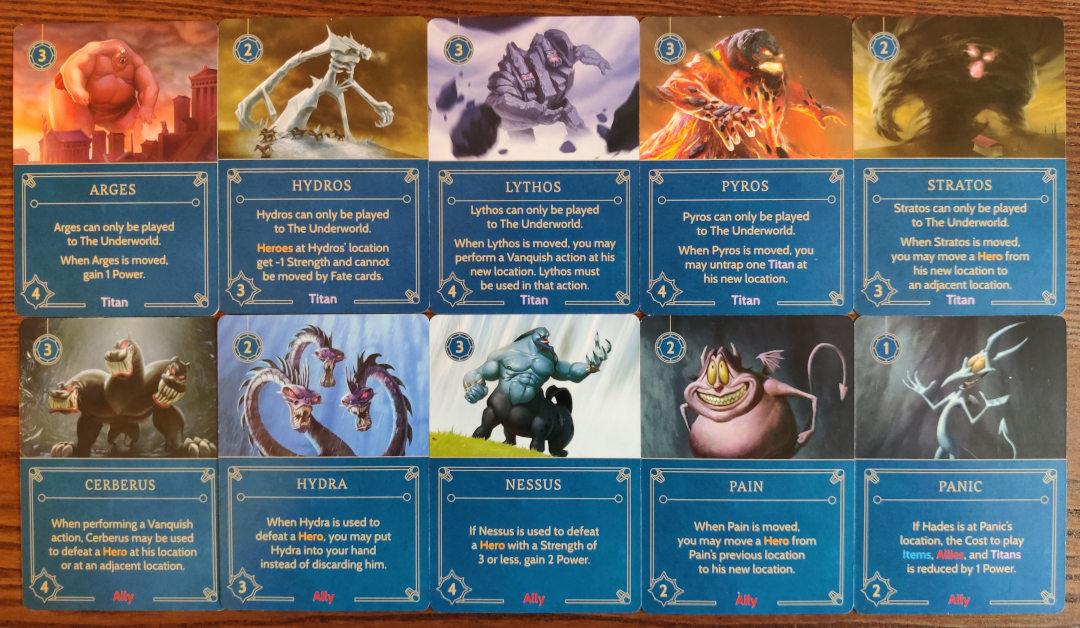 disney villainous hades titans and allies cards