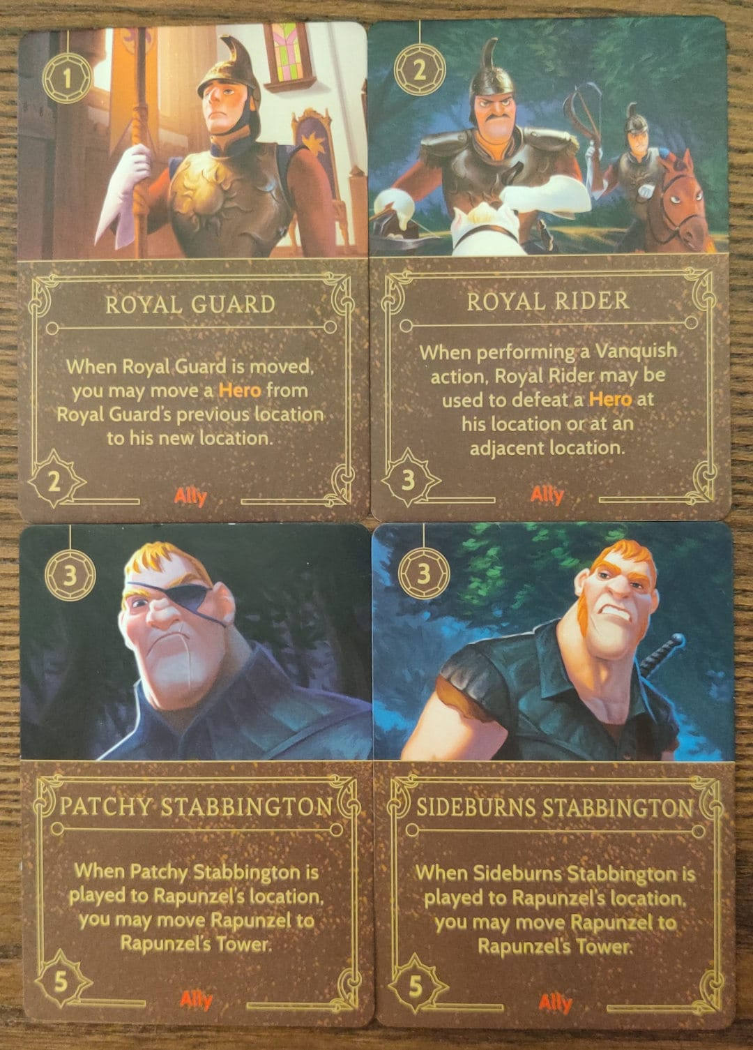 Mother Gothel's Ally cards from her Villain Deck