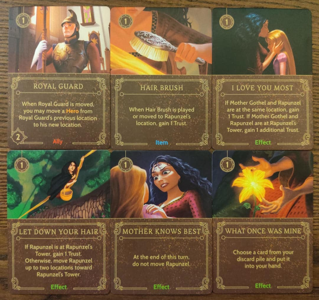 Important cards for Mother Gothel's winning strategy