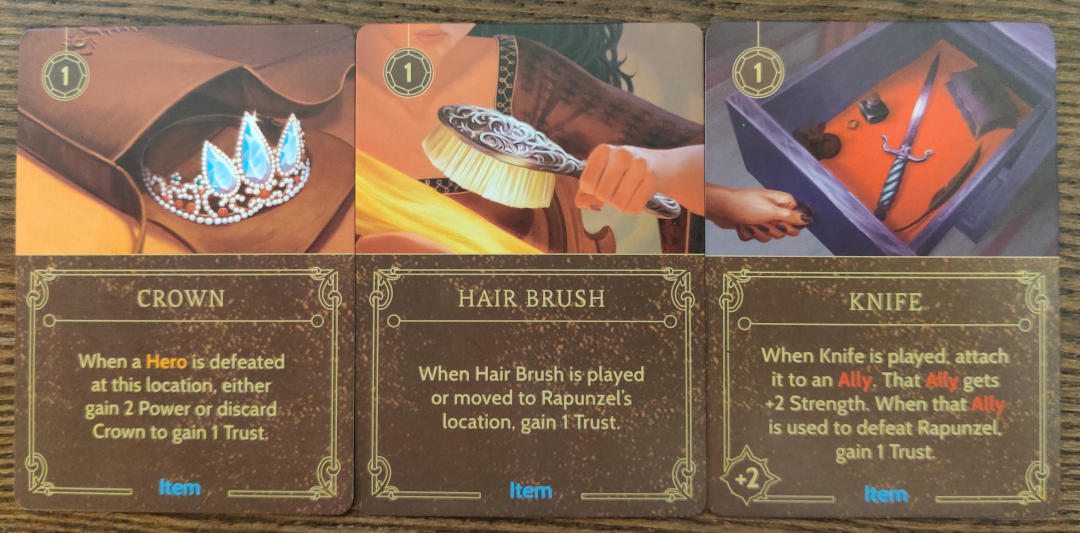 Mother Gothel's Item cards from her Villain Deck
