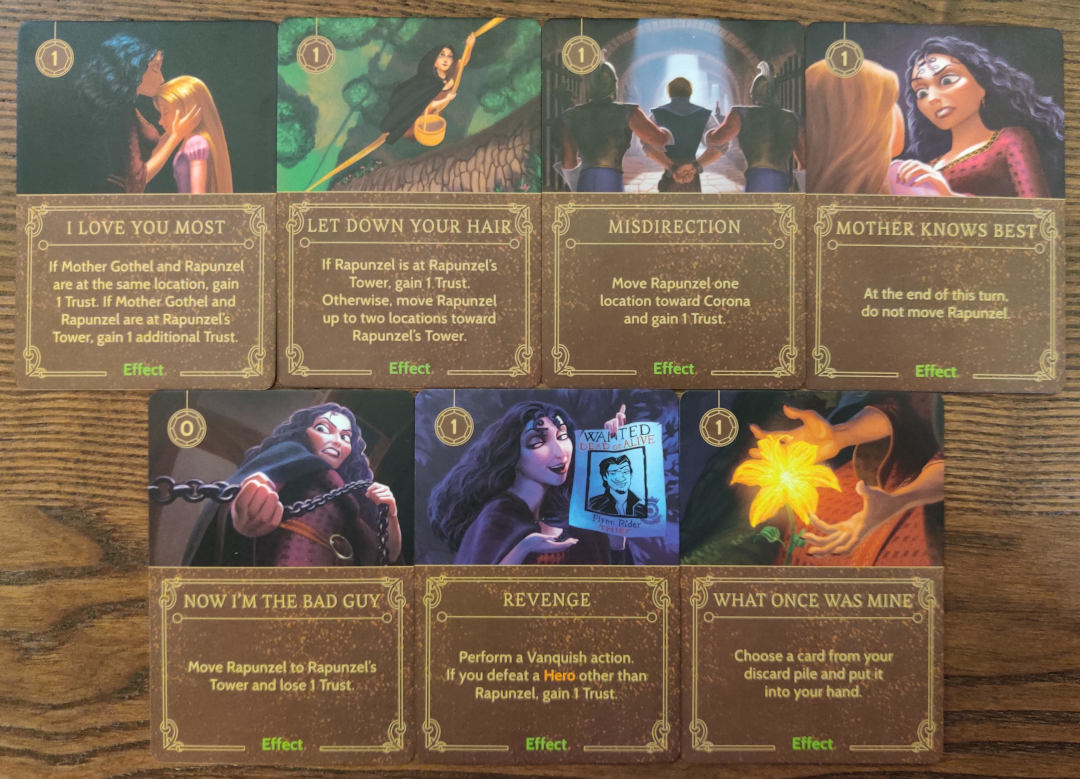 Mother gothel effect cards disney villainous