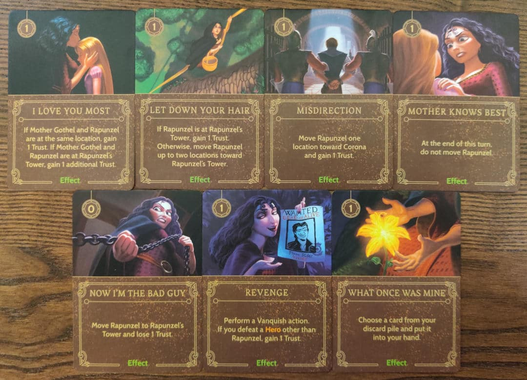 Mother Gothel's Effect cards from her Villain Deck