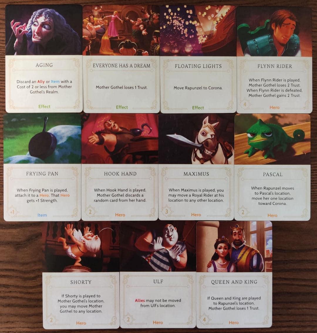 Mother Gothel's Fate deck cards in Disney Villainous