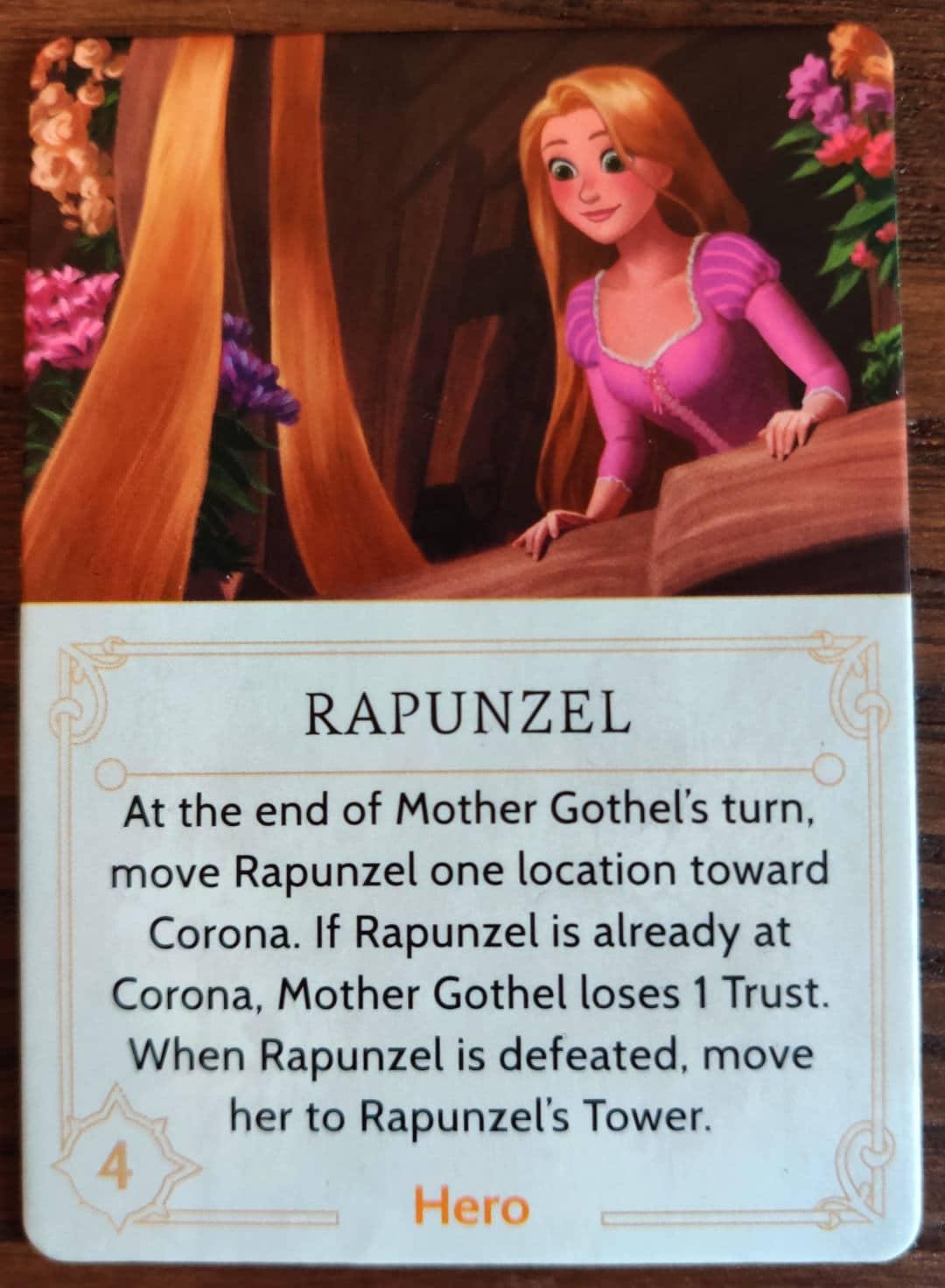 Rapunzel Hero token in Disney Villainous