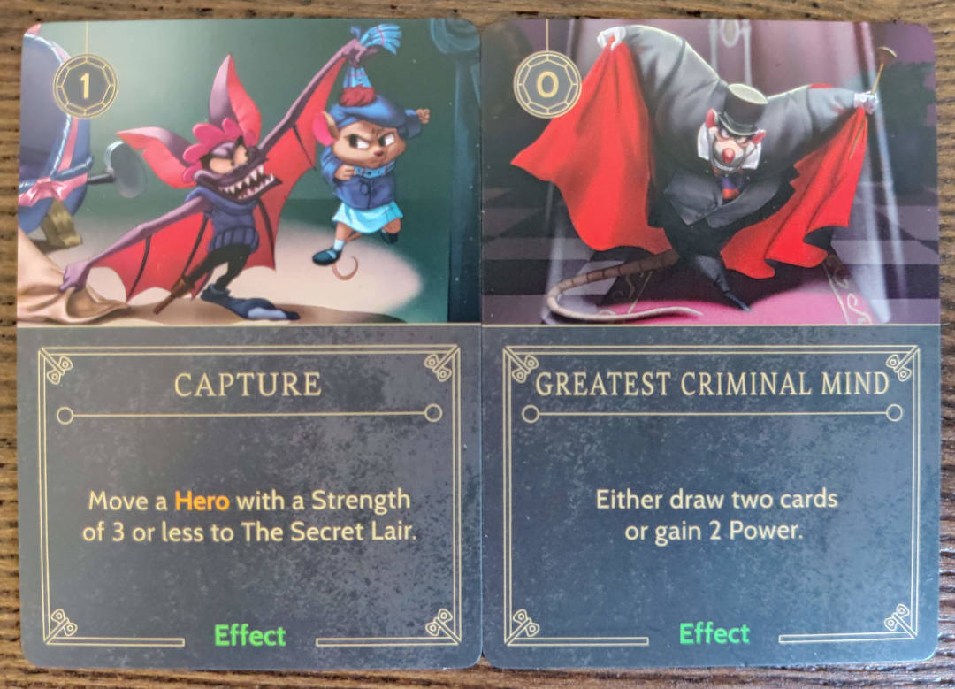 Disney Villainous Ratigan Effect cards