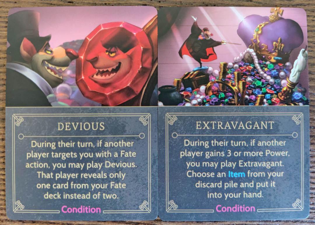 Disney Villainous Ratigan Condition cards