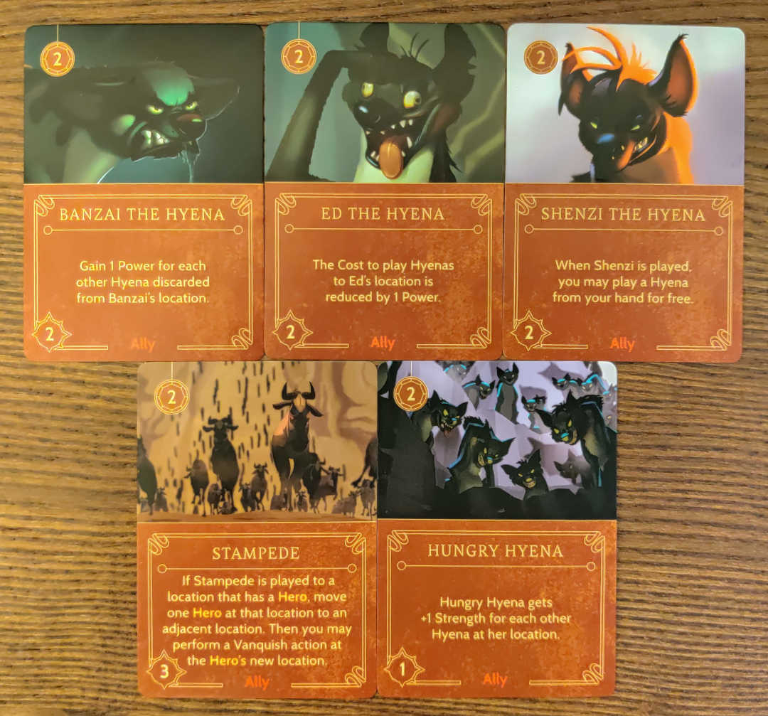 scar disney villainous ally cards