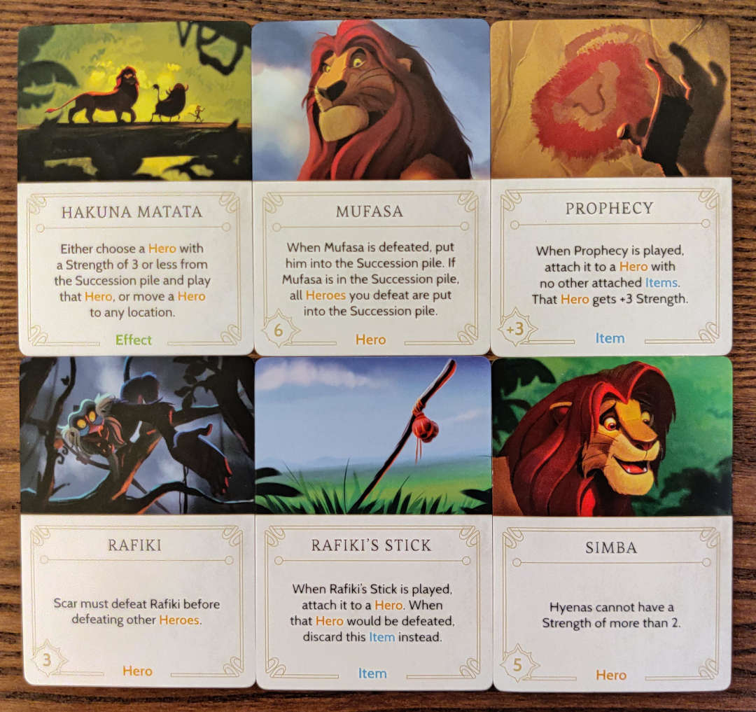 Scar Disney Villainous Annoying fate cards