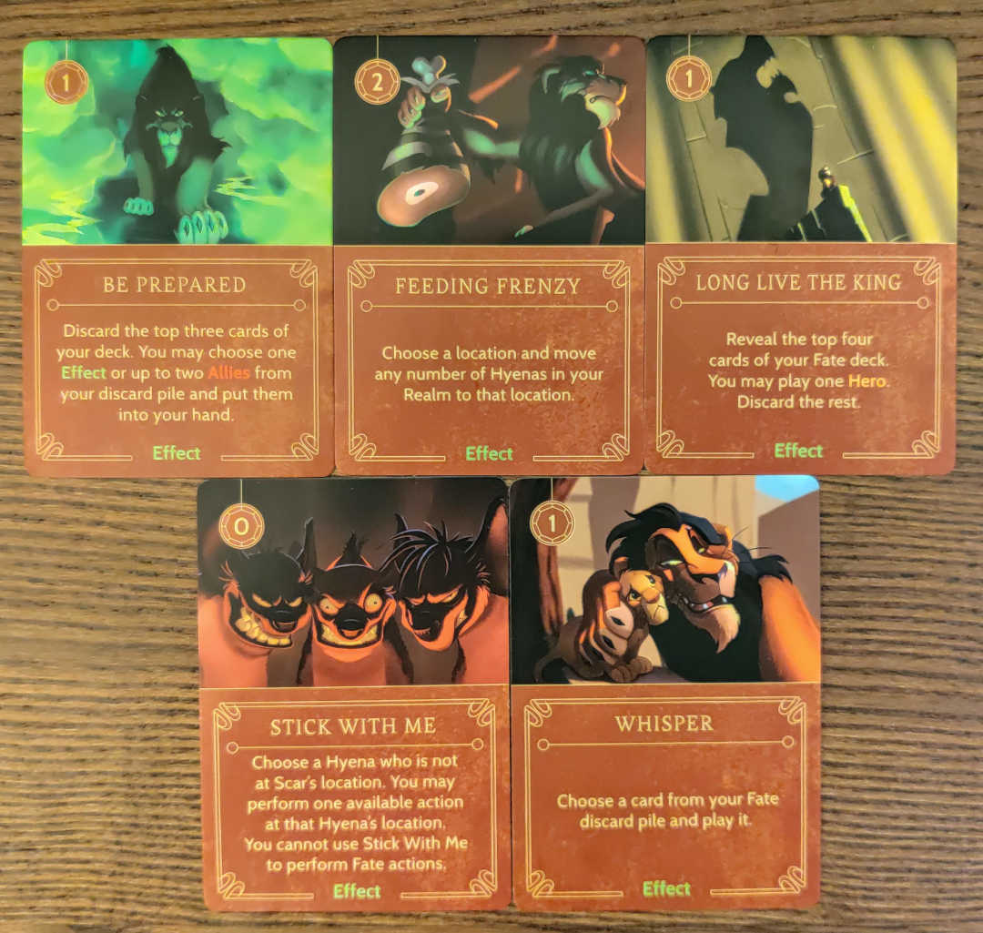 Scar Villain deck effects cards