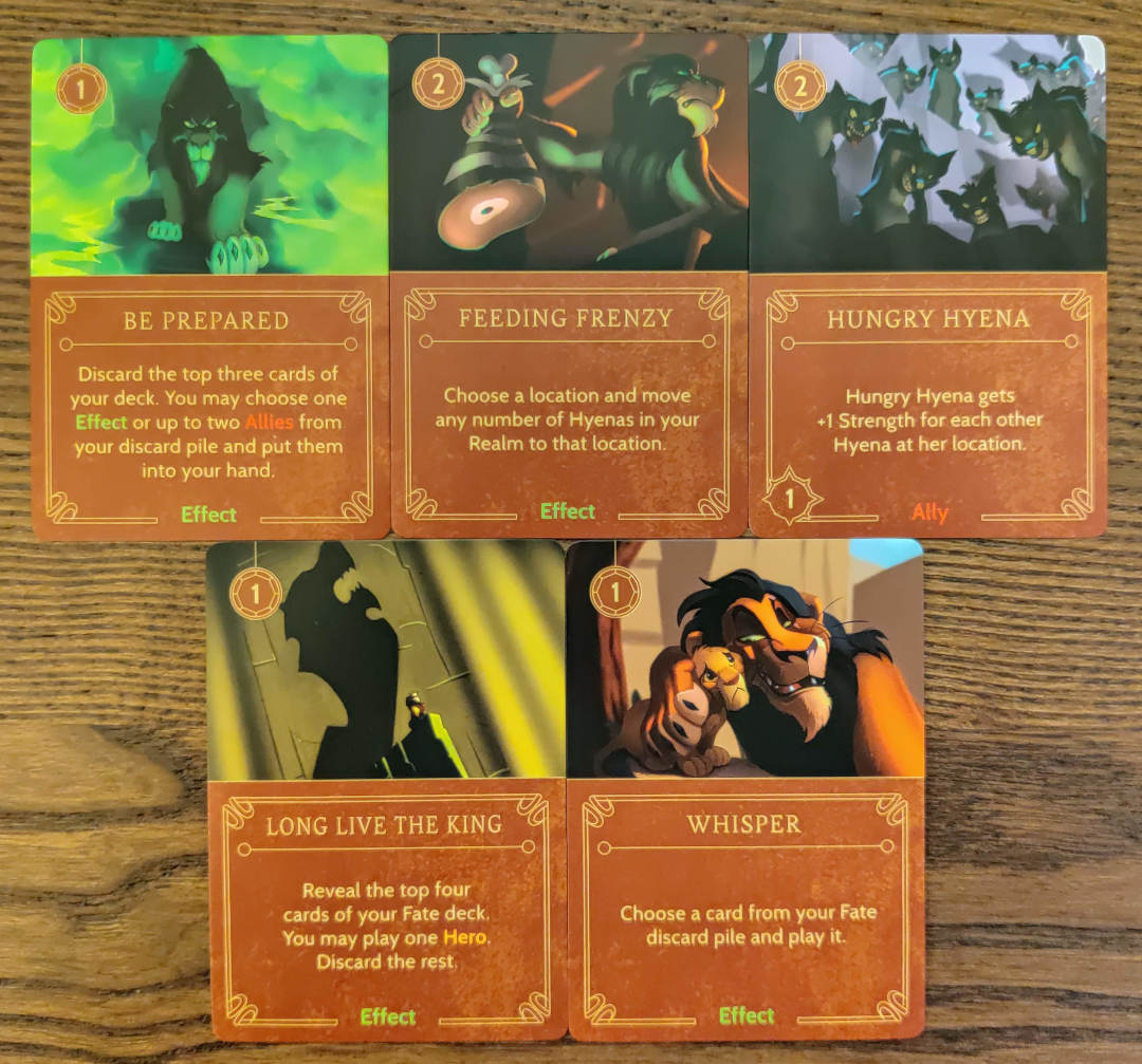 Scar Disney Villainous villain deck important cards to win