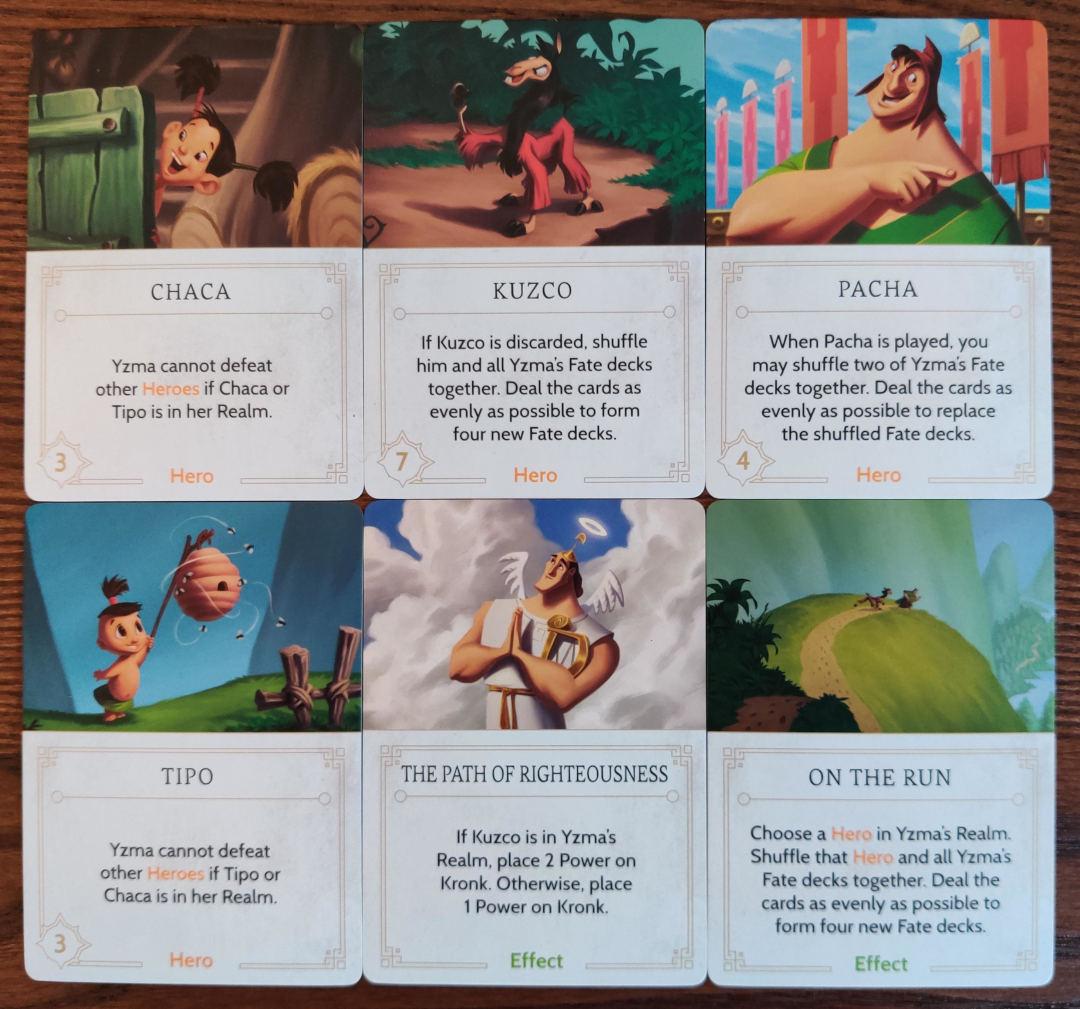 Annoying Fate cards in Yzma's fate deck