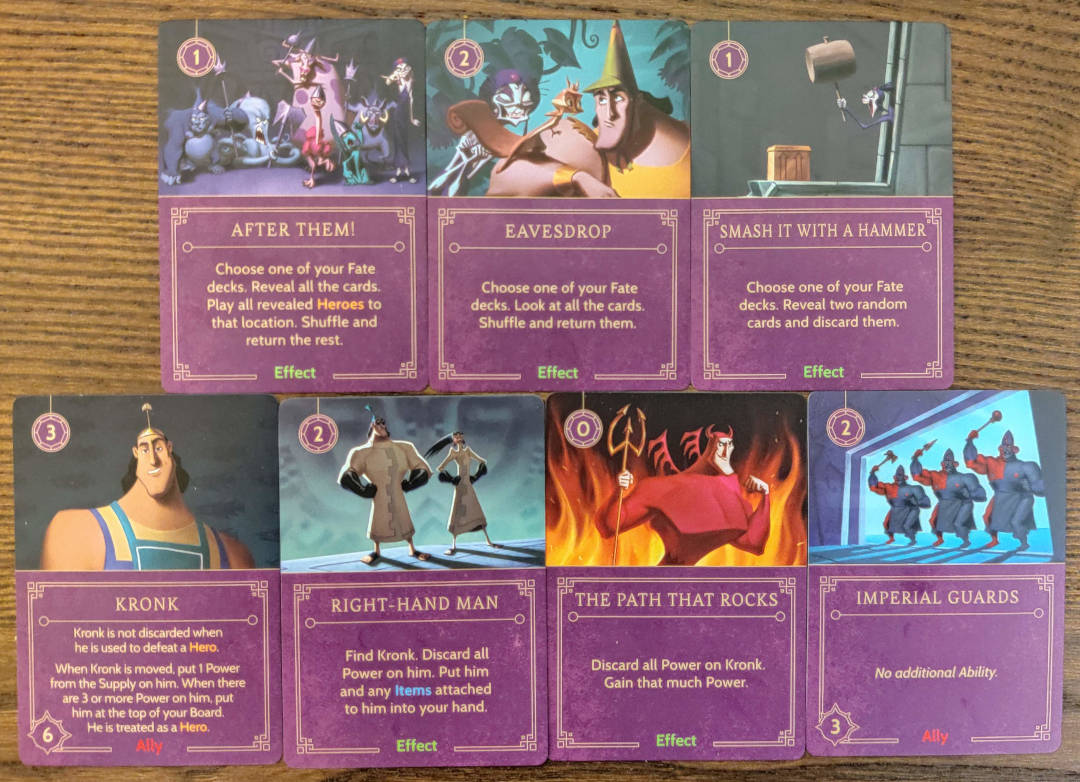 Cards that are important to Yzma's strategy.