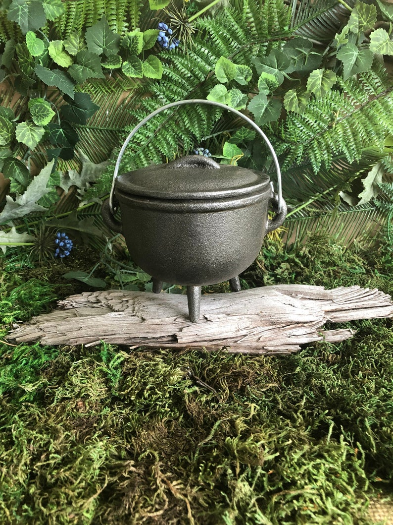 Cast iron witched cauldron. Image credit: Witchy Woman Workshop on Etsy.