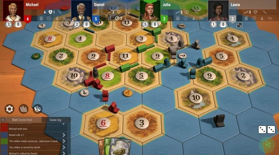 Catan Universe a website to play the board game catan online