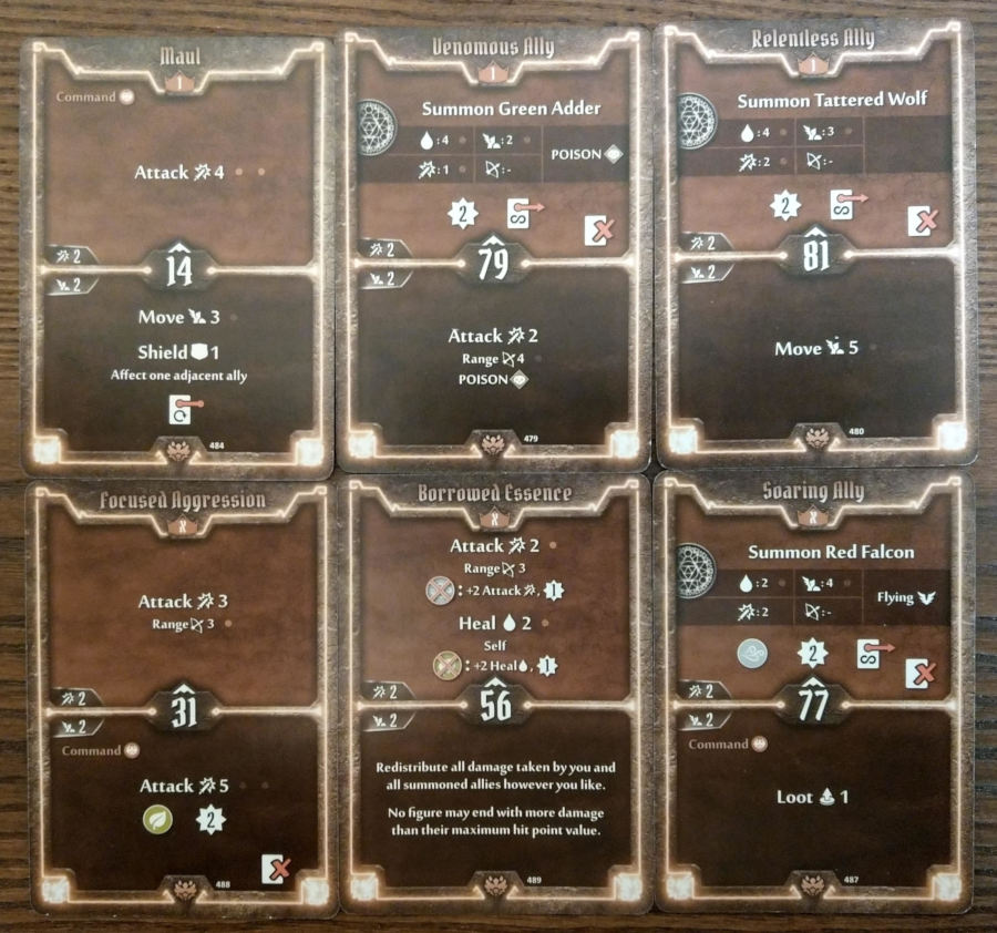 Gloomhaven Beast Tyrant level 1 and X cards