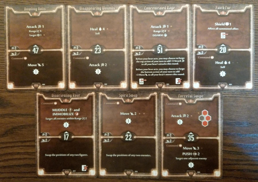 Gloomhaven Beast Tyrant Level 1 cards