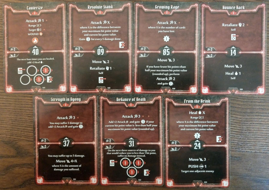 Gloomhaven Berserker cards level 1