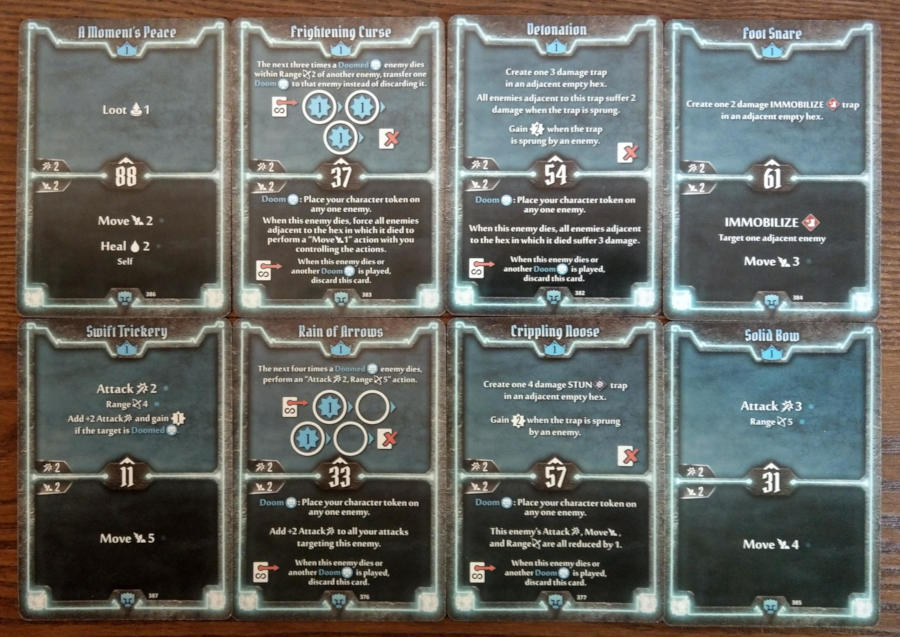 Doomstalker cards level 1