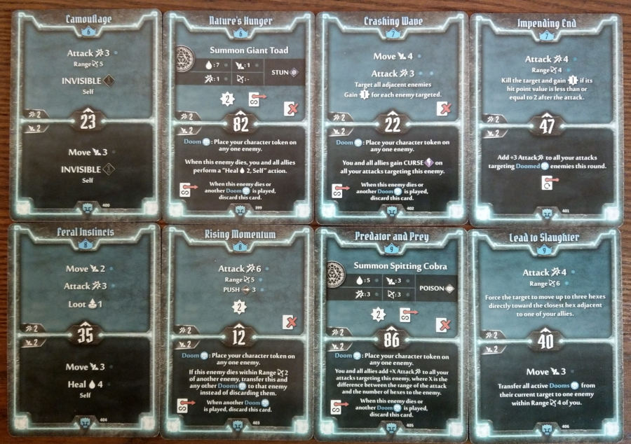 Doomstalker cards level 6 to 9