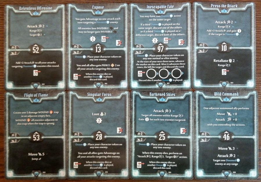 Doomstalker cards level 2 to 5