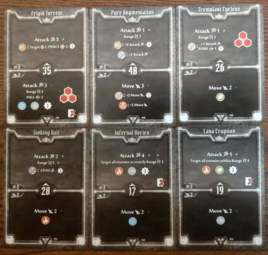 Elementalist cards level 1