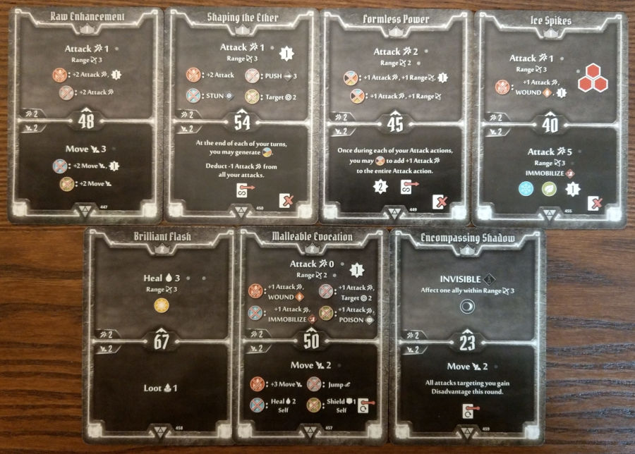 Elementalist cards level 1 and X