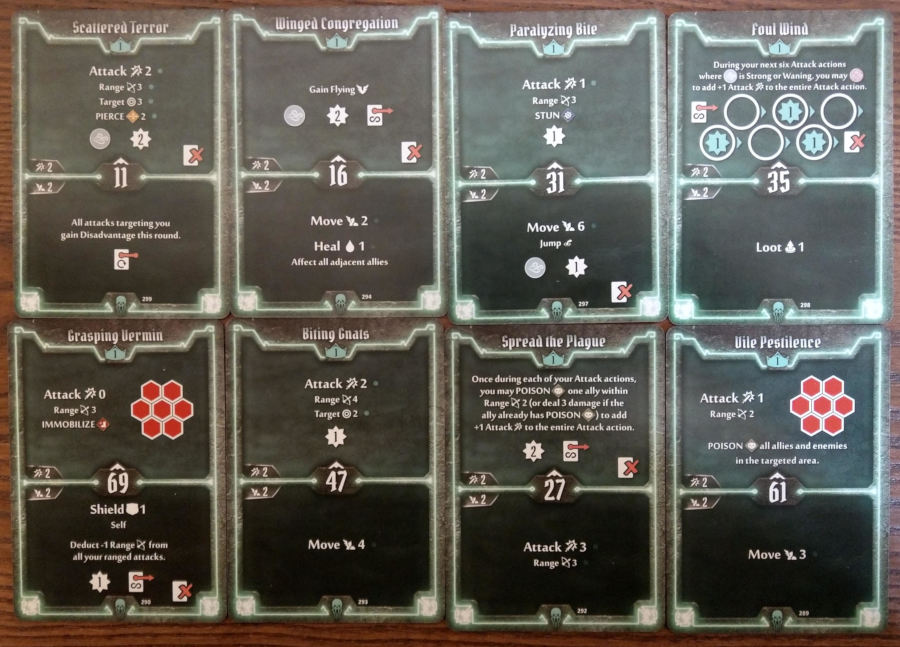 Gloomhaven Plagueherald cards level 1