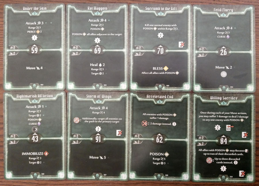 Gloomhaven Plagueherald cards level 2 to 5