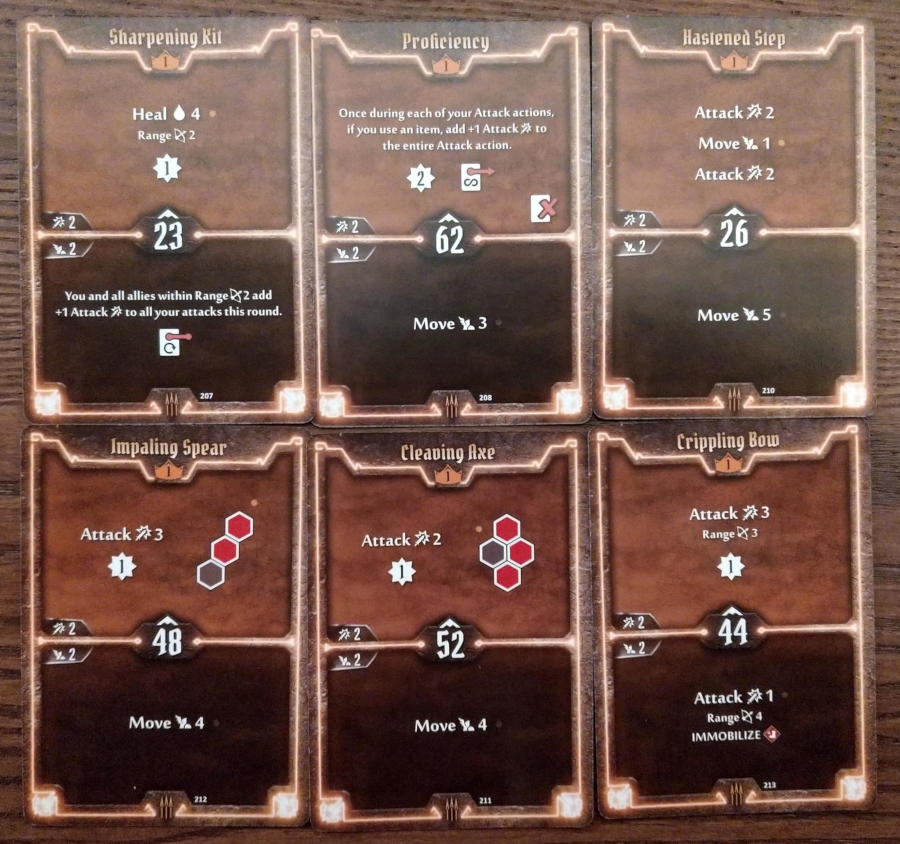 Gloomhaven Quartermaster cards level 1