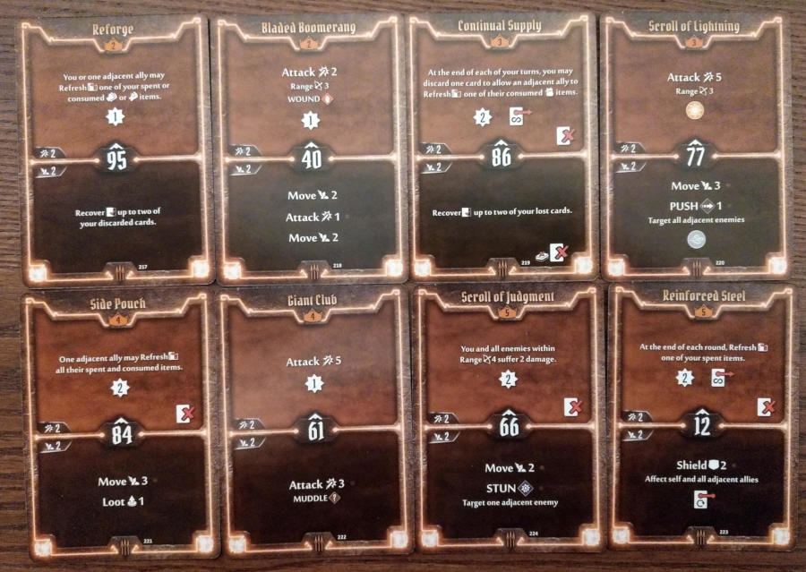 Gloomhaven Quartermaster cards level 2 to 5