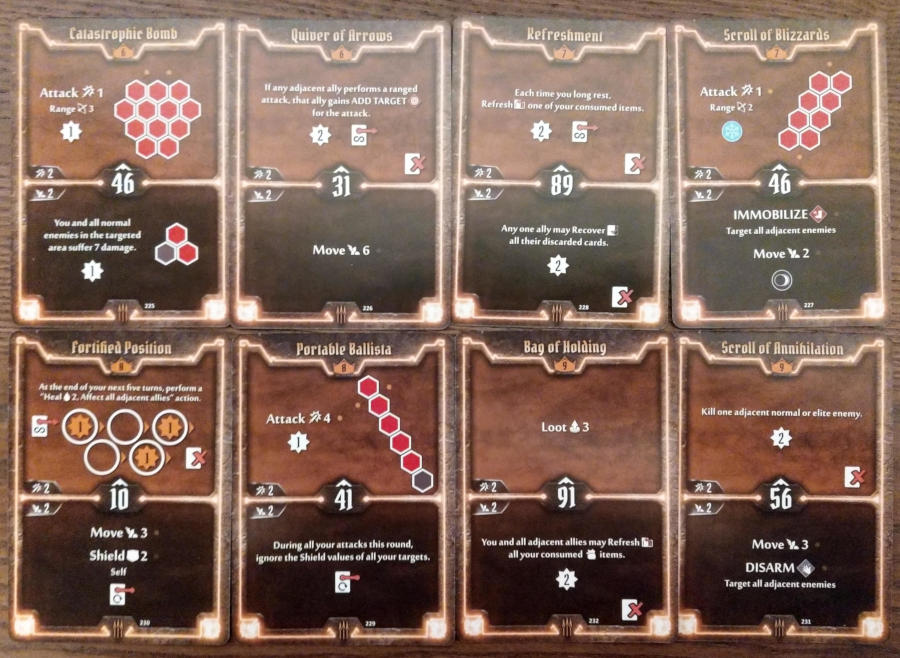 Gloomhaven Quartermaster cards level 6 to 9