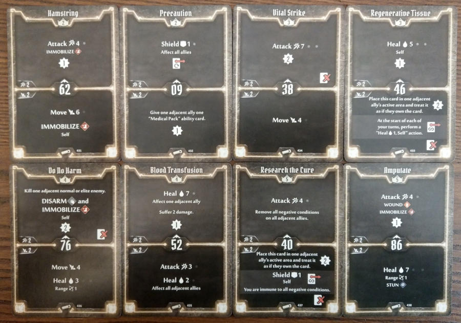 Gloomhaven Sawbones cards level 2 to 5