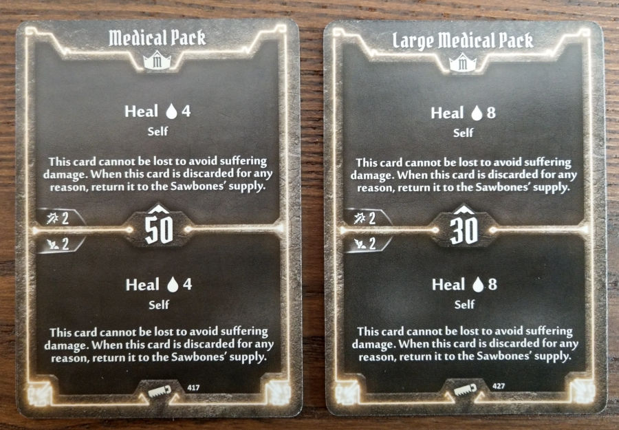 Gloomhaven Sawbones Medical Pack cards