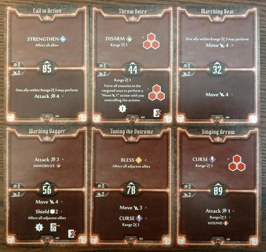 Gloomhaven Soothsinger cards level 1