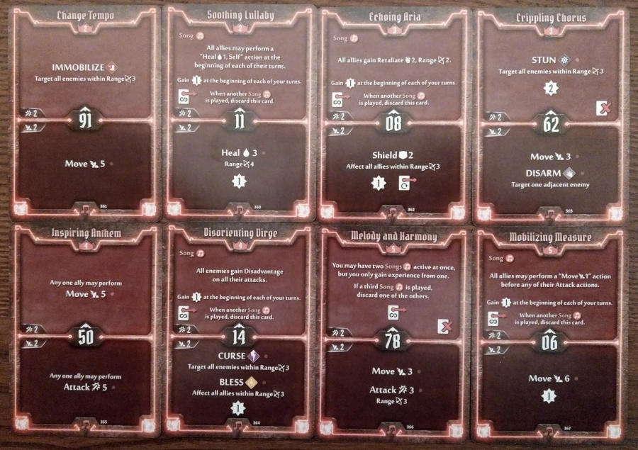 Gloomhaven Soothsinger cards level 2 to 5