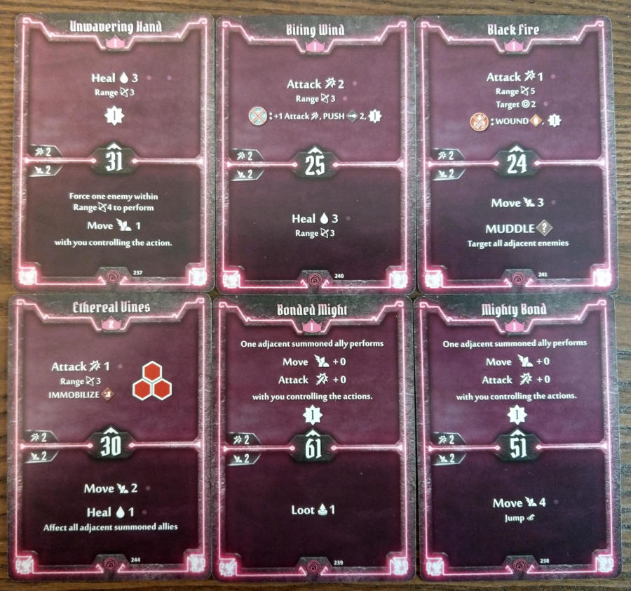 Gloomhaven Summoner cards level 1 and X