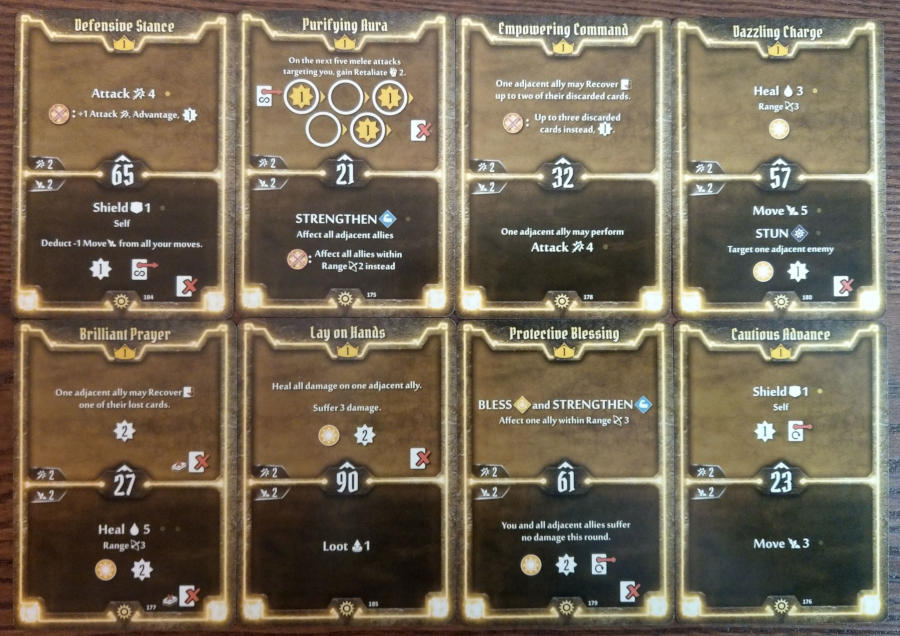 Gloomhaven Sunkeeper cards level 1