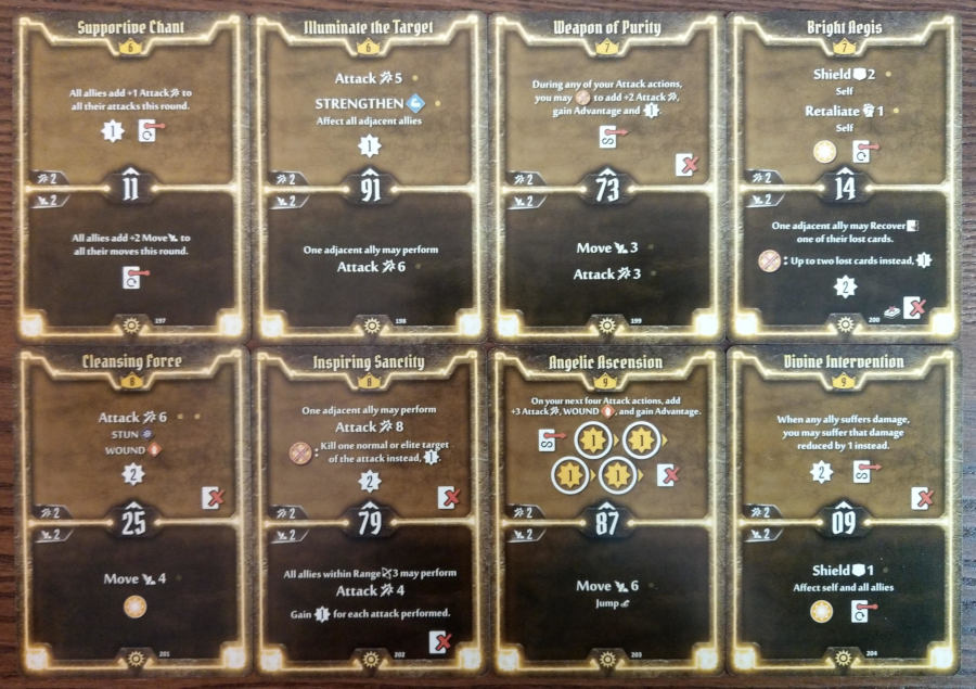 Gloomhaven Sunkeeper cards level 6 to 9