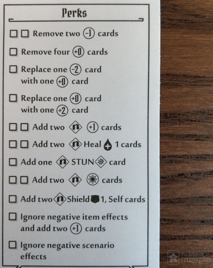 Sunkeeper perks sheet Gloomhaven