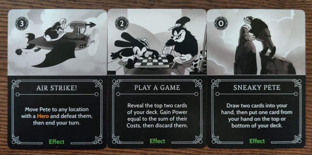 Pete Disney Villainous Effect cards