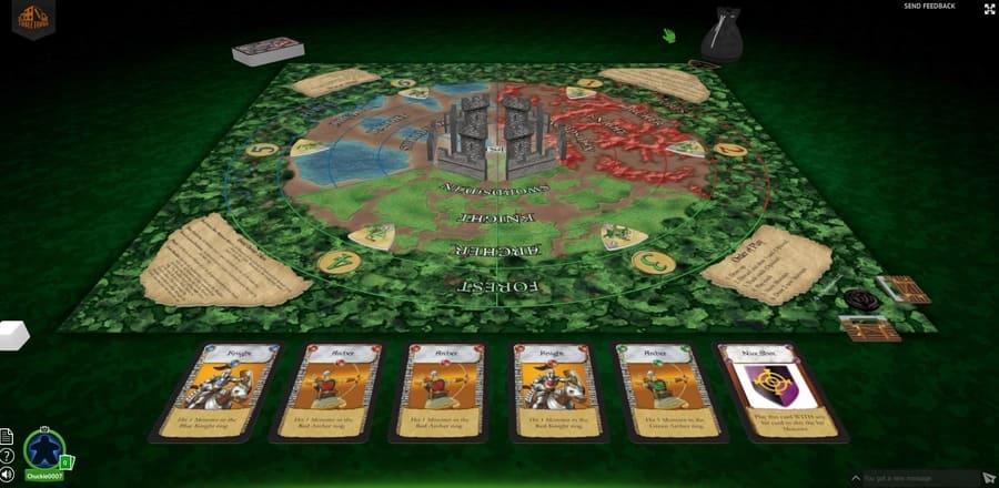 Castle Panic board game on Tabletopia